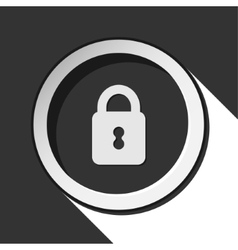 Black icon with closed padlock and stylized shadow vector