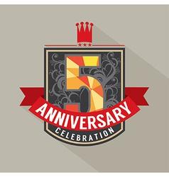 5 Years Anniversary Badge Design vector image
