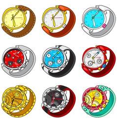 watch set vector image
