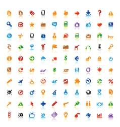 Perfect colorful icons vector