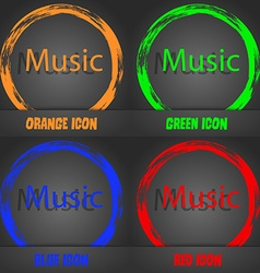 Music sign icon karaoke symbol fashionable modern vector
