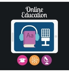 Elearning or online education vector