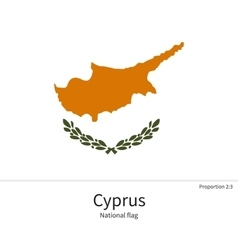National flag of cyprus with correct proportions vector