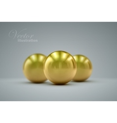 3d golden spheres vector