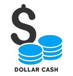 Dollar cash icon with caption vector