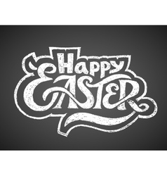 Happy easter chalk lettering vector