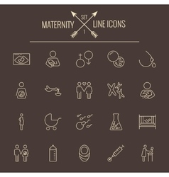 Maternity icon set vector