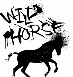 ink horse vector image
