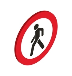 No pedestrian sign icon isometric 3d style vector
