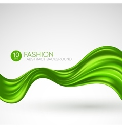 Green flying silk fabric fashion background vector