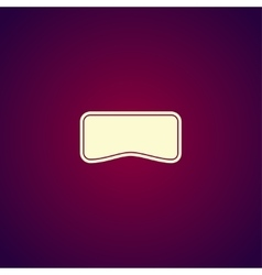 Virtual reality headset icon flat design vector