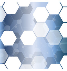 Abstract hexagonal technology cell background vector
