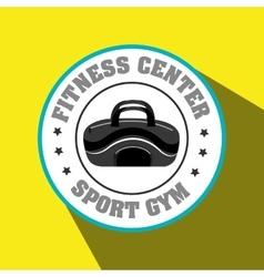 Bag gym sport vector