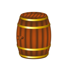 Barrel in wooden design vector