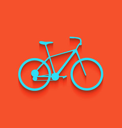 Bicycle bike sign whitish icon on brick vector