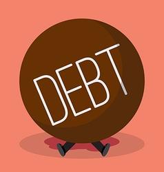 Businessman under heavy debt vector image vector image