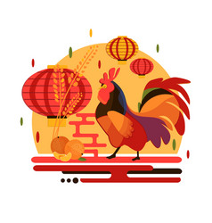 Chinese new year 2017 rooster concept vector
