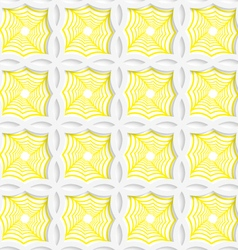 Colored 3D yellow striped pointy squares vector image vector image