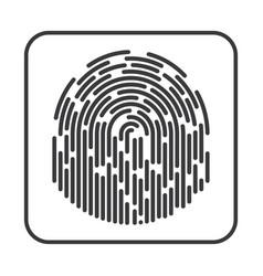 fingerprint on white background vector image vector image