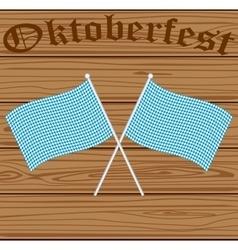 Oktoberfest bavarian flag symbol vector
