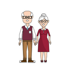 old couple with glasses icon vector image