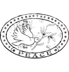 peace stamp vector image