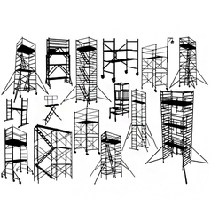 scaffolding silhouettes vector image vector image