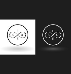 search engine - seo icon using sign of infinity vector image vector image