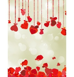 Valentine holiday lights with copyspace eps 8 vector