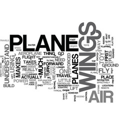What makes an aeroplane fly text word cloud vector