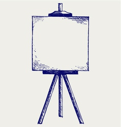 Easel with empty canvas vector image