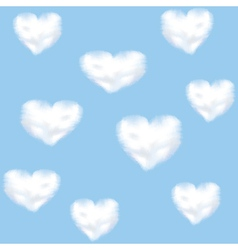 Clounds shaped heart vector