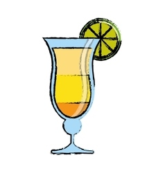 cocktail drink traditional brazil sketch vector image