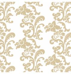 Vintage elegant lily flower ornament pattern vector image