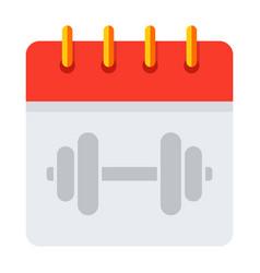 Training schedule calendar vector