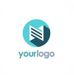Building icon logo vector