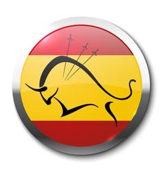 Realistic badge bullfighting vector