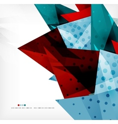 Futuristic shapes abstract background vector