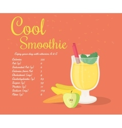 Yellow cool smoothie vector