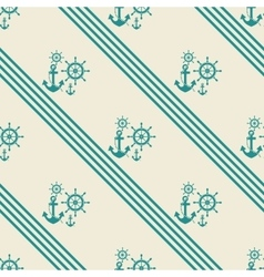 Seamless pattern of anchor helm vector