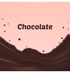 Chocolate splash on pink background vector