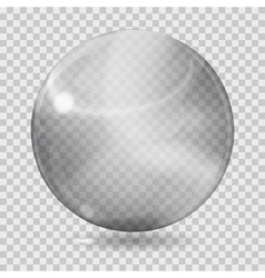 Gray transparent glass sphere vector