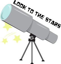 Look to the stars vector