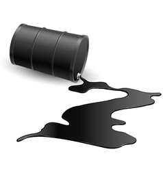 Barrel with black liquid vector image