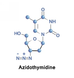Azidothymidine antiretroviral medication vector