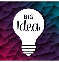Big idea bulb design vector