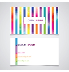 business card template with the line from vector image vector image