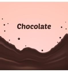 Chocolate splash on pink background vector