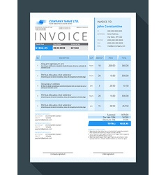 Customizable invoice form template design vector