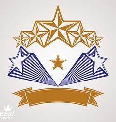 Detailed luxury 3d symbol monarch emblem vector